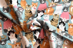 Látky Patchwork - Kočky