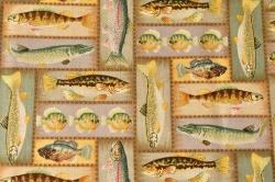 Látky Patchwork - Ryby