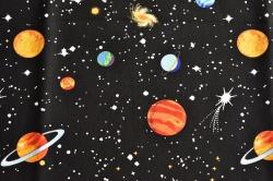 Látky Patchwork - Vesmír