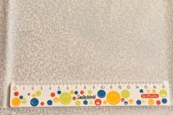 Látky Patchwork - Ornamenty na bílo-šedé - stříbrotisk