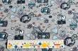 Látky Patchwork - Elektronika na šedé