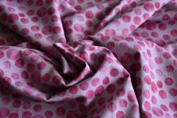 Látky Patchwork - Růžová kola