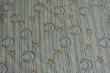 Látky Patchwork - Měsíc a hvězdy na zelenkavém podkladu