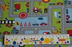 Látky Patchwork - Silnice - dopravní hřiště