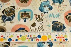 Látky Patchwork - Barevní psi