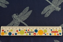 Látky Patchwork - Vážky na modrém podkladu
