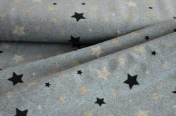 180720-16 Hvězdy na modrém podkladu -  látka s měnícím efektem