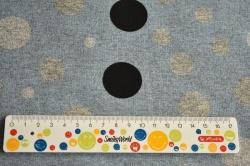Látky Patchwork - Kola na modrém podkladu