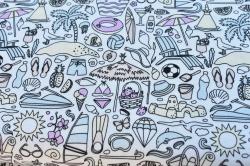 Látky Patchwork - Léto-pláž
