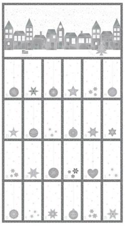 4595-135 Amazing  Stars 135 - Adventní kalendář  60 cm
