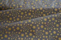 126758-5002 Zlaté hvězdičky na šedé -