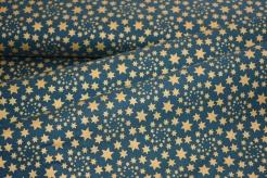 126758-5031 Zlaté hvězdičky na lahvově zelené -