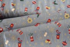 130264-5002 Vánoční ozdoby na šedé -
