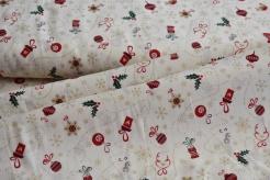 130264-5004 Vánoční ozdoby na smetanové -