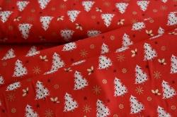 128563-5019 Stromečky na jasně červené -