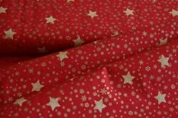 130271-5019 Zlaté hvězdičky  na červené -
