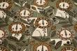 Látky Patchwork - Lvi na khaki zeleném podkladu