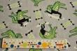 Látky Patchwork - Krokodýli na šedém podkladu