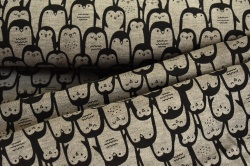 130820-3002 Tučňáci na tmavě šedém podkladu -