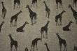 Látky Patchwork - Žirafy na šedém podkladu