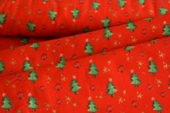 130269-5019 Zelené stromečky na červené -