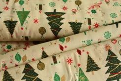 130277-5004 Vánoční stromky na smetanové -