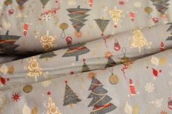 130277-5002 Vánoční stromky na šedé -