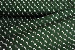130283-5031 Bílý sobi na tm. zelené -
