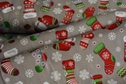 128575-5002 Vánoční punčochy na šedé -