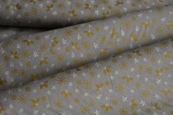 128564-5002 Vločky, lístečky a hvězdičky na šedé -