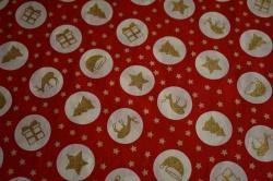 130251-5019 Vánoční symboly na červené -