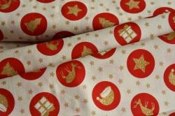 130251-5004 Vánoční symboly na bílé -