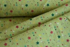 130431-3004 Barevné hvězdičky na zeleném podkladu -