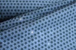 690037-3001 Hvězdičky na modrém podkladu -