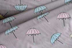 690041-3003 Deštníky na světle fialkovém podkladu -