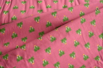 Látky Patchwork - Žabky na růžovém podkladu