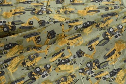 131647-3002 Pracovní stroje na sv. zeleném podkladu -
