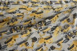 131647-3003 Pracovní stroje na šedém podkladu -