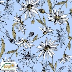 25-200 AVALANA  jersey  viskoza - květinový vzor -