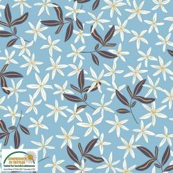 25-201 AVALANA  jersey  viskoza - květinový vzor -