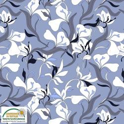 25-203 AVALANA  jersey  viskoza - květinový vzor -