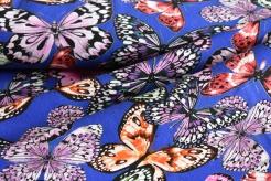 10641-005 Motýli na tm. modrém podkladu -
