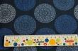 Látky Patchwork - Mandaly na modrém podkladu