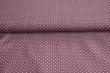 Látky Patchwork - Šedé puntíky na fialovém podkladu