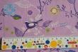 Látky Patchwork - Ptáčci fialovém podkladu