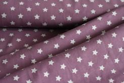8968-620 Šedé hvězdičky na fialovém podkladu -