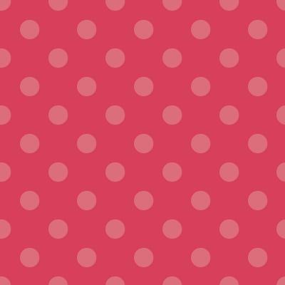 Látky Patchwork - Puntíky na červené