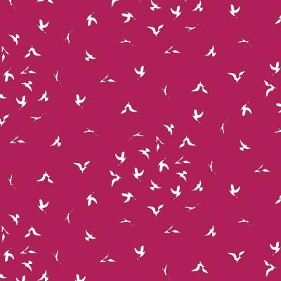 Látky Patchwork - Ptáci na červené