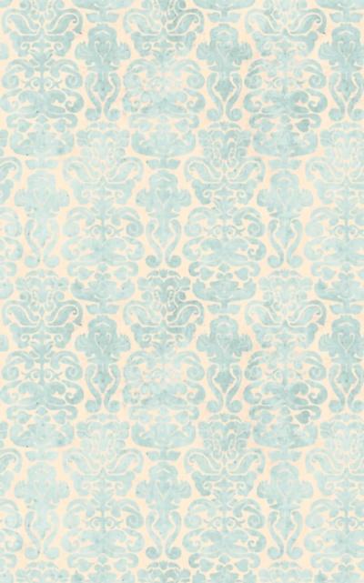 Látky Patchwork - Santoro My story - modré ornamenty na světlé
