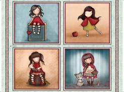 6205-060_l Santoro My story - holčičky I. - panel  90 cm